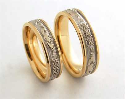 Кольца обручальные золотые мужские