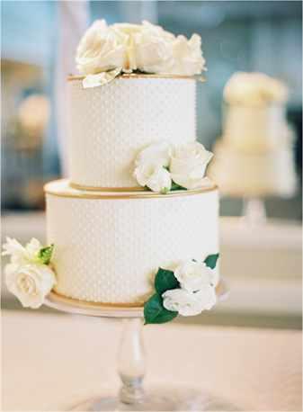 Торты свадебные двухъярусные кремовые фото