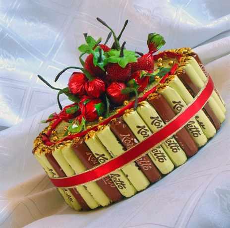 Торт из конфет своими руками фото пошагово