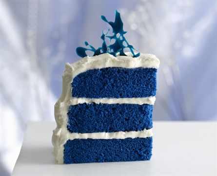 Как сделать на торт голубой 18