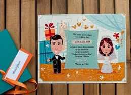 Пригласительные на свадьбу пазл своими руками