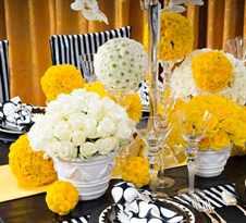 Свадебное оформление зала фото в желто белом