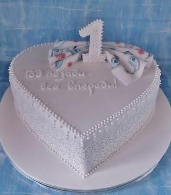 Фото торты на годовщину свадьбы 1 год