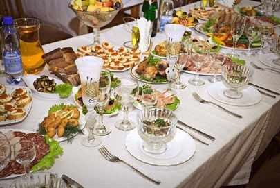 Примерное меню на свадьбу на 30 человек