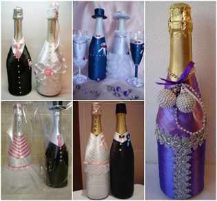Покрасить бутылку шампанского своими руками фото 208