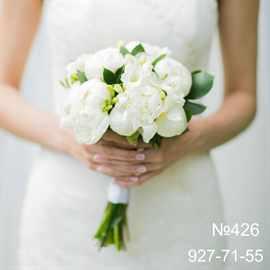 Букет невесты пионы белые