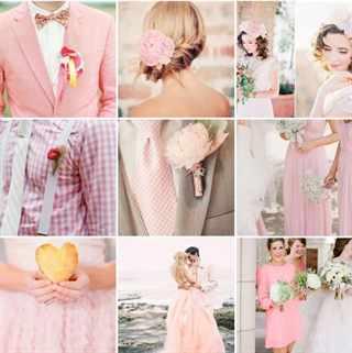 Розовый кварц цвет свадьба