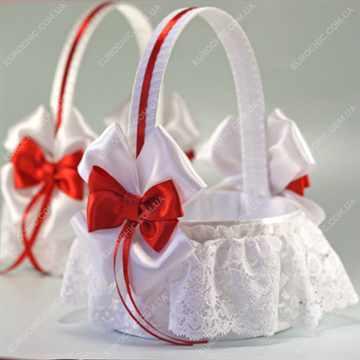 Свадебные корзинка с лентами своими руками