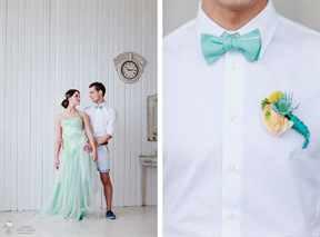 Оформление свадьбы в морском цвете 38