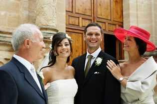 Крестная на свадьбе у крестницы