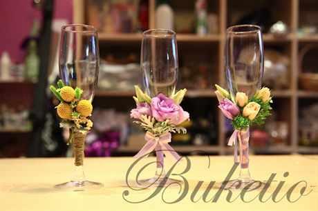 Свадебные бокалы мастер класс фото