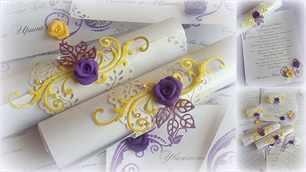 Букет фиолетового с желтого в интерьере, свадебный букет капля пионы значение