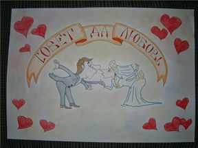 Свадебные плакаты своими руками нарисованные