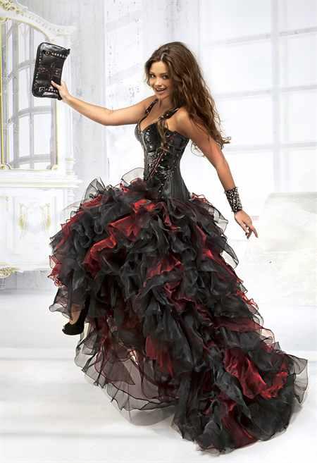 Рок стиль платья