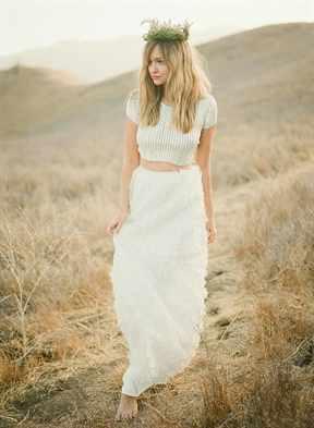 Эко стиль свадебного платья