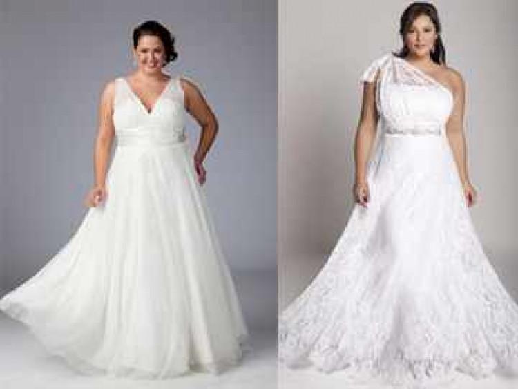 Свадебные платья на пышную фигуру
