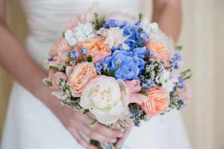 Свадебный букет красивый на фото