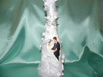 Декор бутылок своими руками свадебный