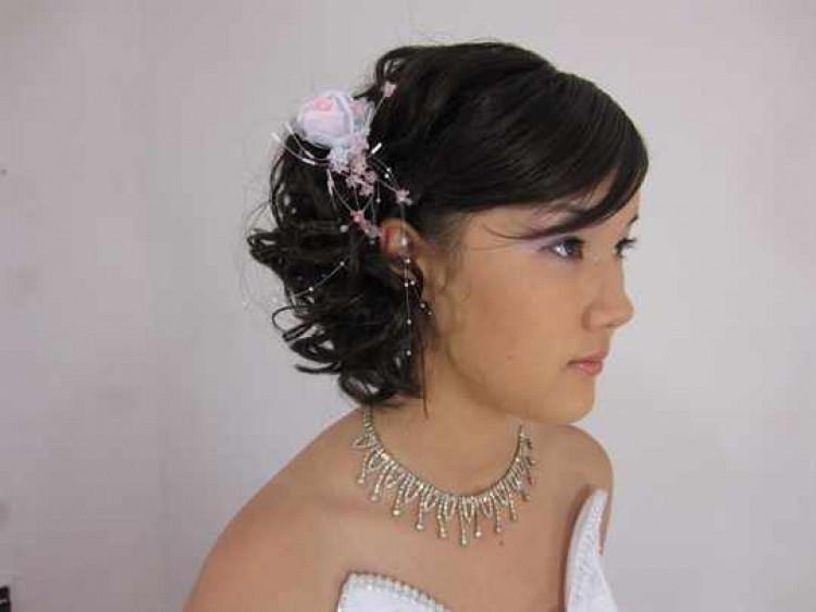 Свадебная прическа каре