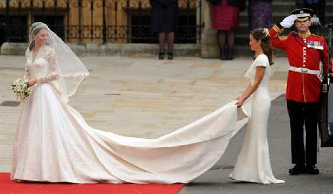 Как подобрать шлейф свадебного платья