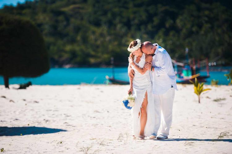 Молодожены в свадебном путешествии
