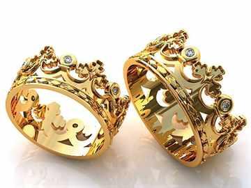 Обручальные кольца-корона
