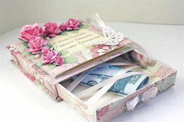Свадебная шкатулка для хранения денег