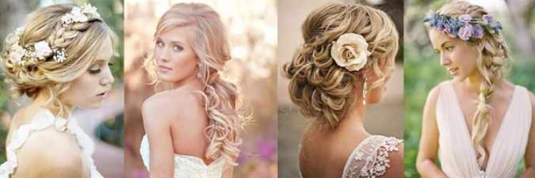 Причёска для невесты на средние волосы