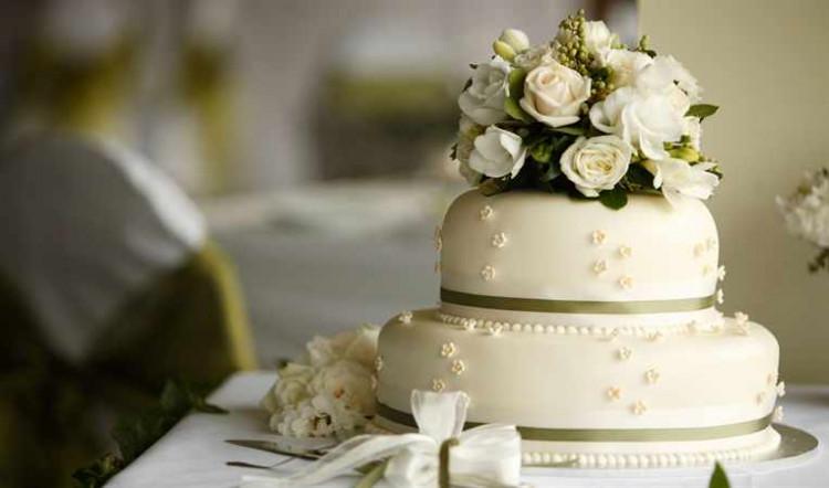 Свадебные торты двухъярусные фото