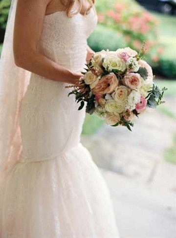 нежный свадебный букет