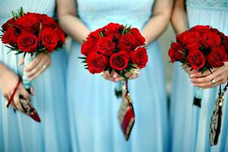 Свадебный букет своими руками розы