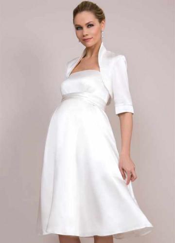 5f6461d9b229196 Короткие свадебные платья для беременных в стиле ретро