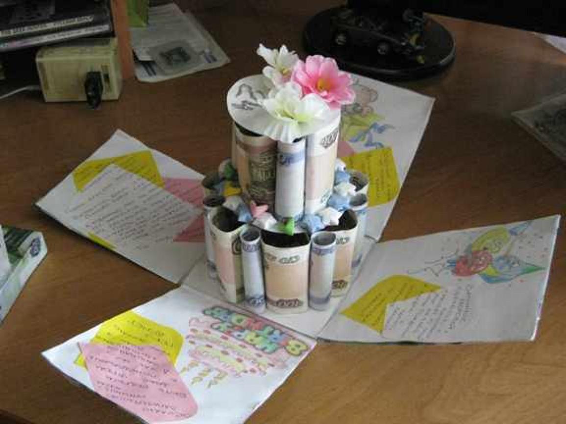 Необычный подарок на свадьбу молодоженам своими руками