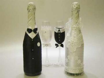 Декорируем бутылки шампанского