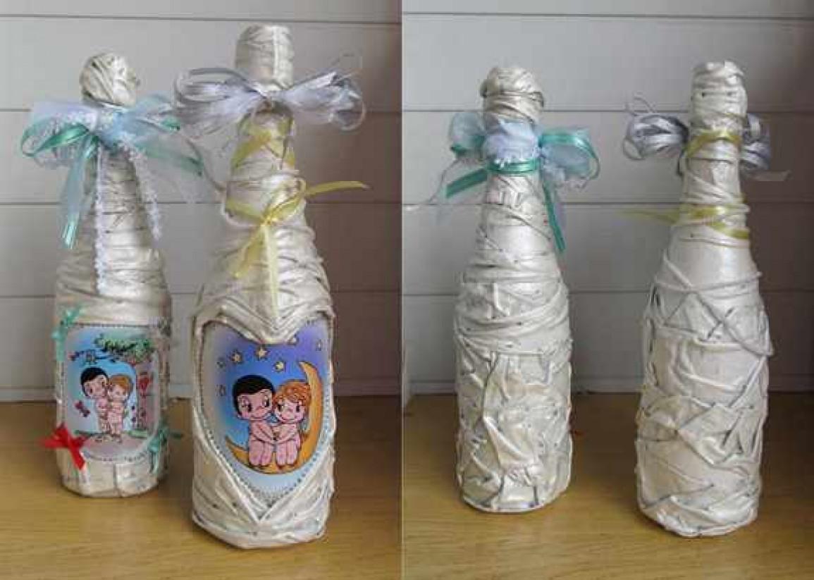 Бутылку для первенца своими руками фото 456