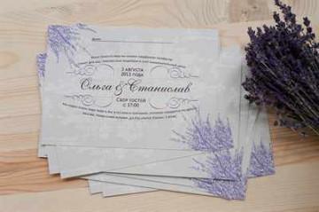 Оформление пригласительных на свадьбу