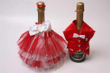 Украшение шампанского на свадьбу своими руками - легко!