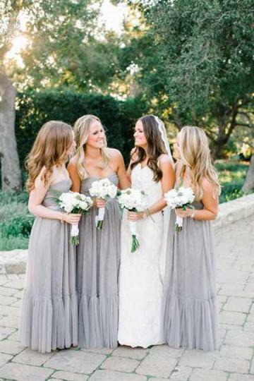 Стилистика платьев подружек невесты