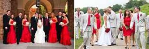 фото гостей на красной свадьбе