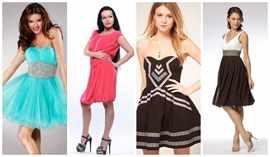 Но не стоит забывать и про однотонные расцветки платьев, они тоже будут замечательно смотреться в летнее время. Однако, от платьев темных тонов лучше отказаться, образ должен получится позитивным и легким.