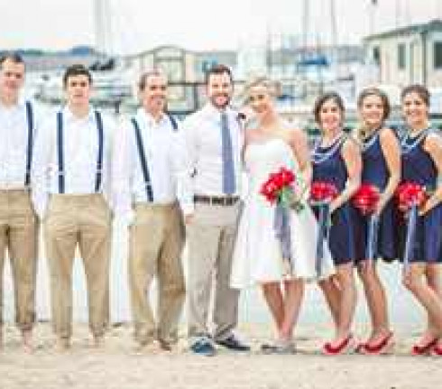как одеться на морскую свадьбу