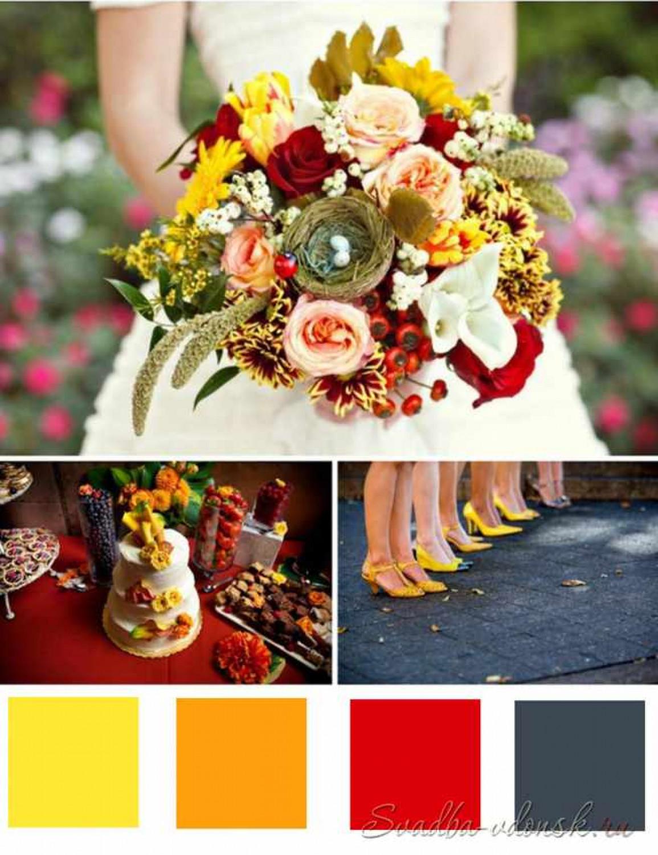 картинки сочетание красного и желтого там проводят различные