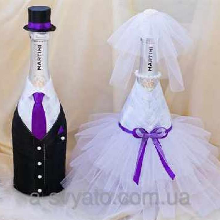 Наряды на бутылки для свадьбы своими руками 184