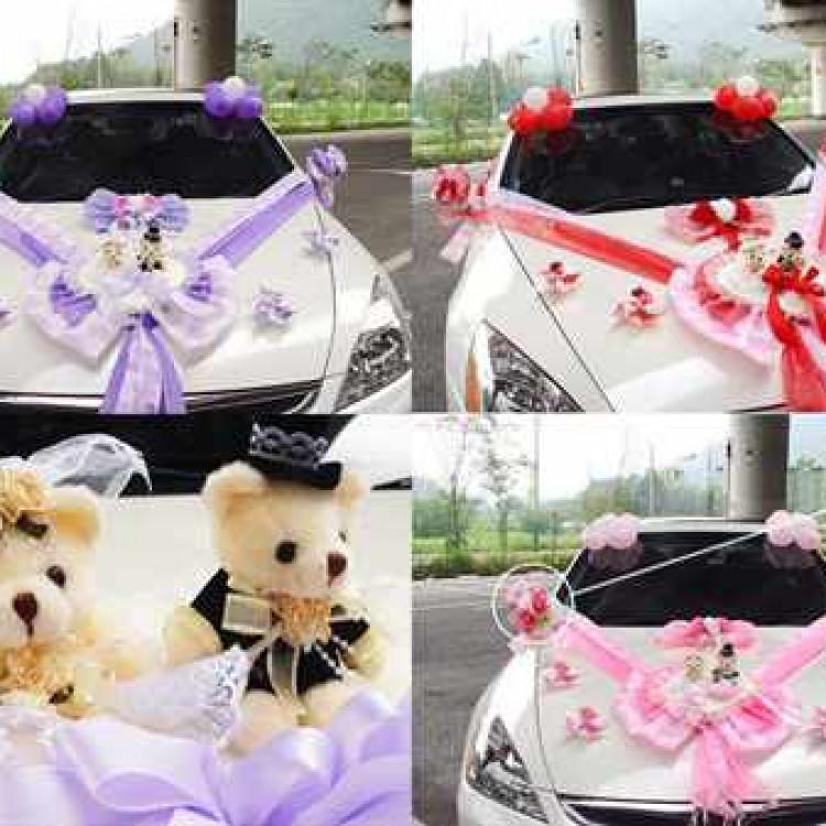 Украшение на машину из ткани на свадьбу своими руками