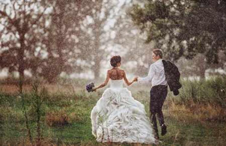 Приметы дождь во время свадьбы