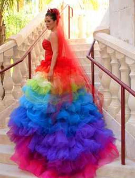 Картинки радужное платье