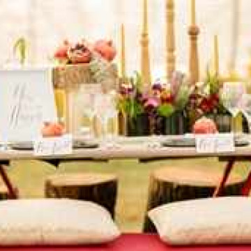 Гранатовая свадьба: оформление, меню, наряды