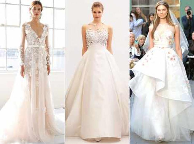 Тренд на свадебные платья 2017