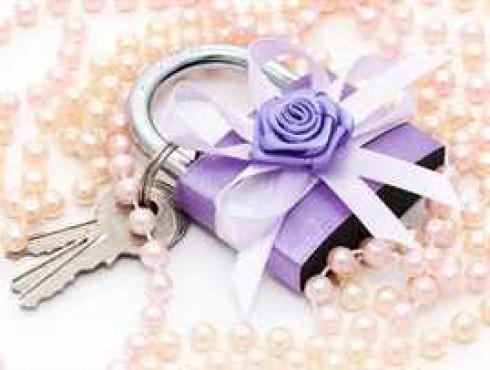 Свадебный замочек своими руками