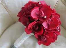 Красные орхидея свадебный букет, букет невесты купить